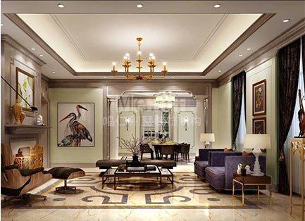 600平山东潍坊泰和上筑100栋美式风格别墅装修效果图