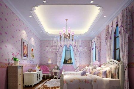别墅儿童房装修效果图女孩房间