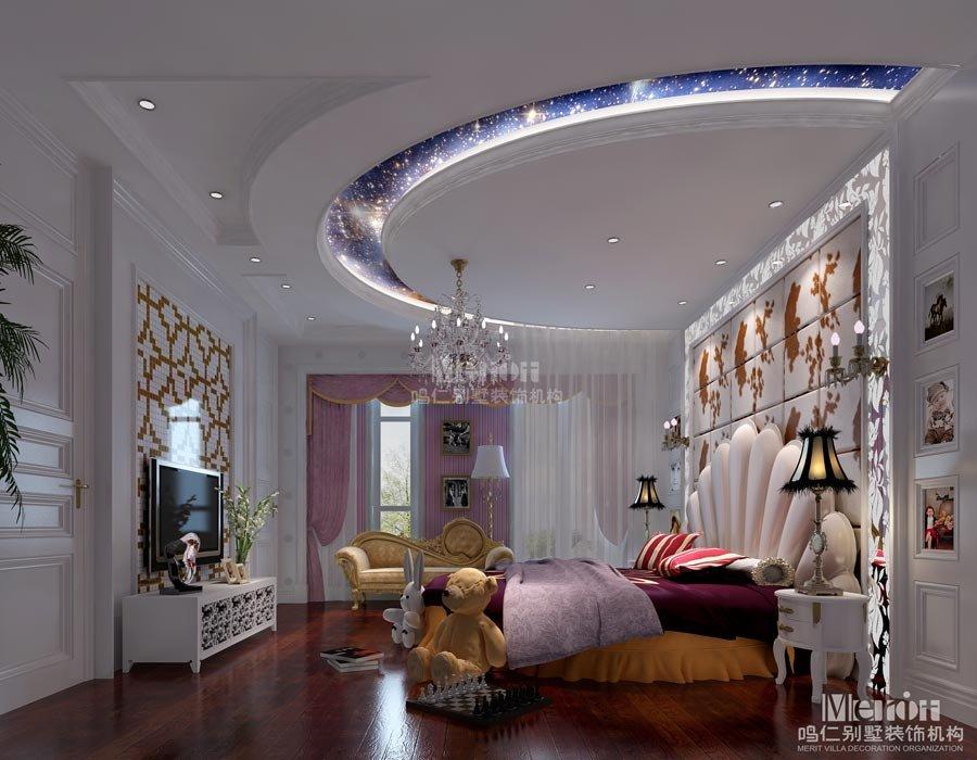 欧式女生别墅房间