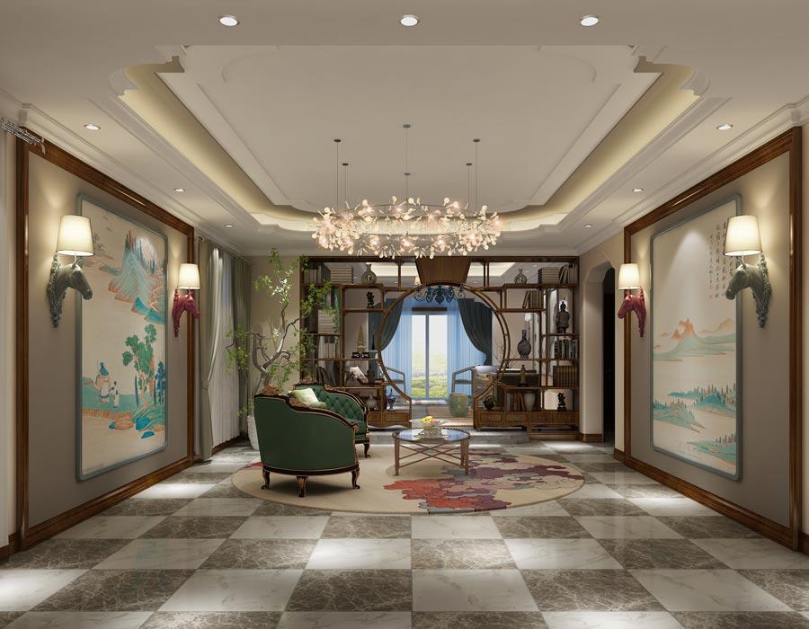 泰和上筑430平美式别墅装修效果图